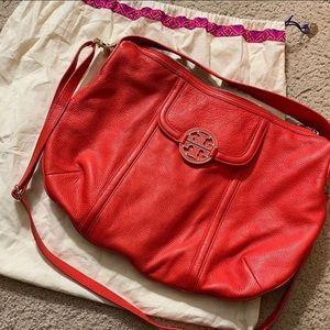 Tory Burch Amanda Hobo bag, coral red